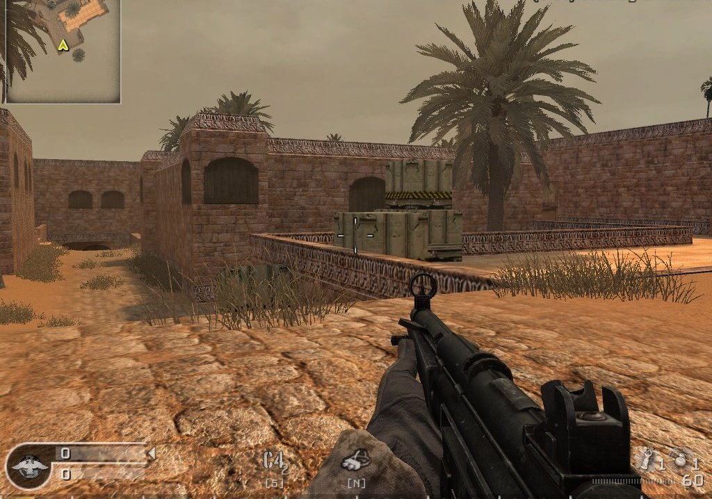 скачать карту mp_dust2_classic для Call of Duty 4: Modern Warfare бесплатно